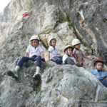 Kids rock climbing course